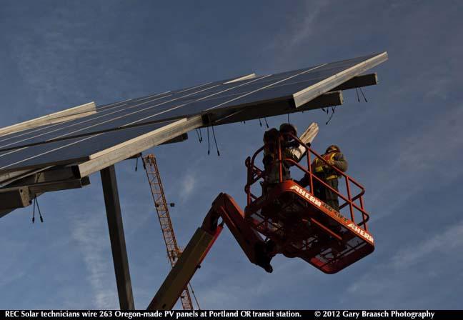 portland transit solar array
