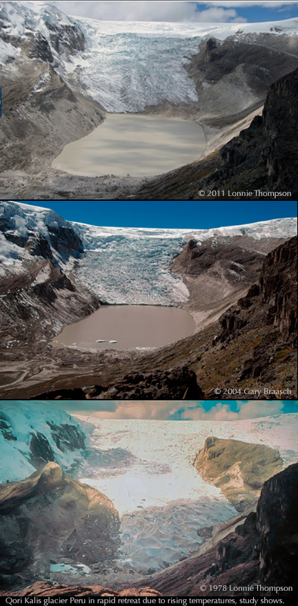 glacier retreats