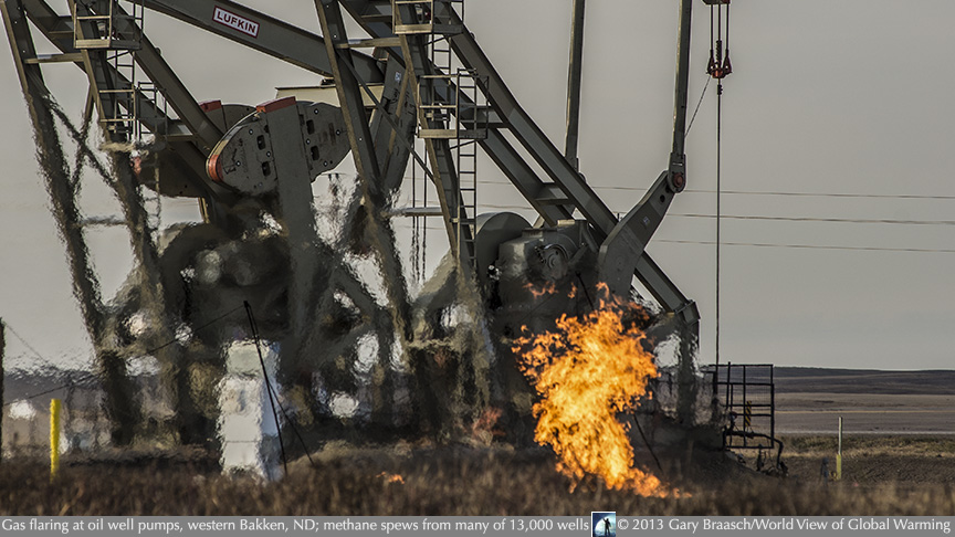 gas   flaring at oil well pumps